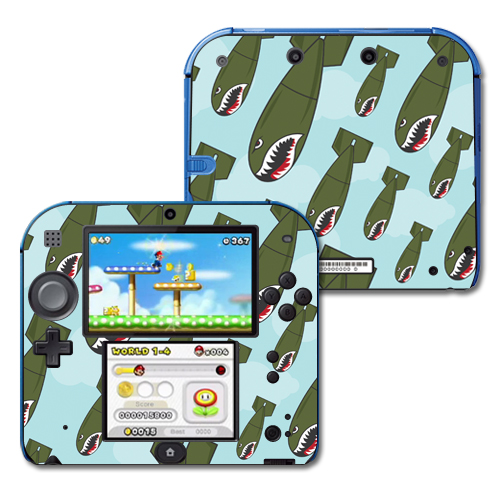 Mightyskins Protective Vinyl Skin Decal Cover for Nintendo 2DS wrap sticker skins Bombs Away