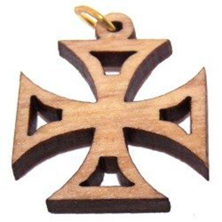 Bannouras Olive Wood - PattEe Olive wood Cross Laser Pendant (6cm or 2.36