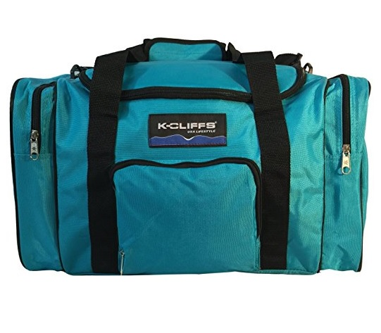 Sport Duffel Bag Fitness Gym Bag Luggage Travel Bag Sports Equipment Gear Bag, Blue by K-Cliffs