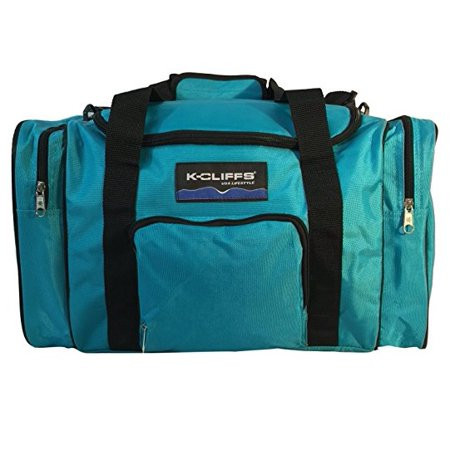 Blue Equipment - K-Cliffs Sport Duffel Bag Fitness Gym Bag Luggage Travel Bag Sports Equipment Gear Bag, Blue