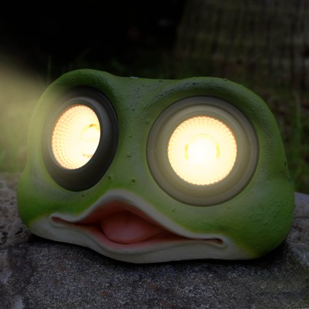 """Image of """"10"""""""" Solar Powered Garden Solar Frog Head Lights Outdoor Color Changing (Frog)"""""""