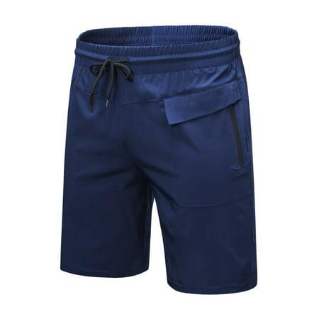 Men Casual Sports Fitness Basketball Shorts Running Cycling Gym Short Pants