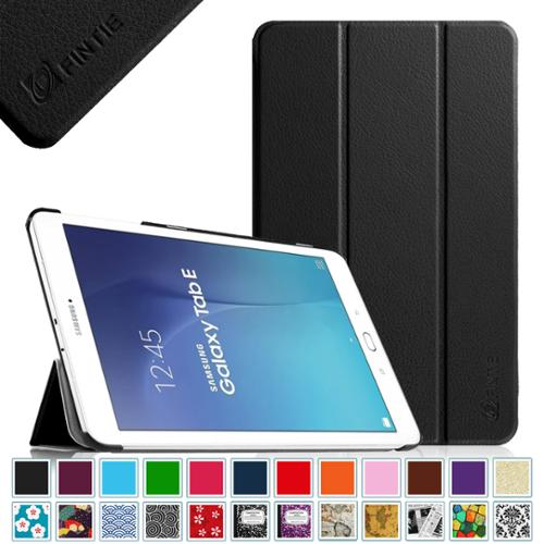 Samsung Galaxy Tab E 9.6 / Tab E Nook 9.6 Inch Tablet Case - Fintie Ultra Slim Lightweight Stand Cover, Black