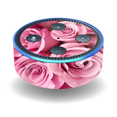 Skin Decal Wrap For Amazon Echo Dot  2Nd Generation  Stickers Pink Roses