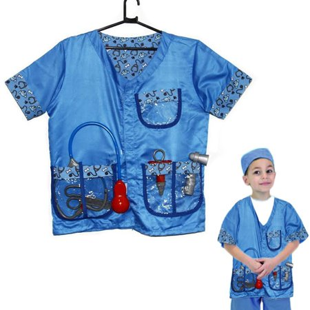 Dazzling Toys Christmas Costume Set Kids Pretend Play Veterinarian Costume Set with Accessories - Child Veterinarian Costume