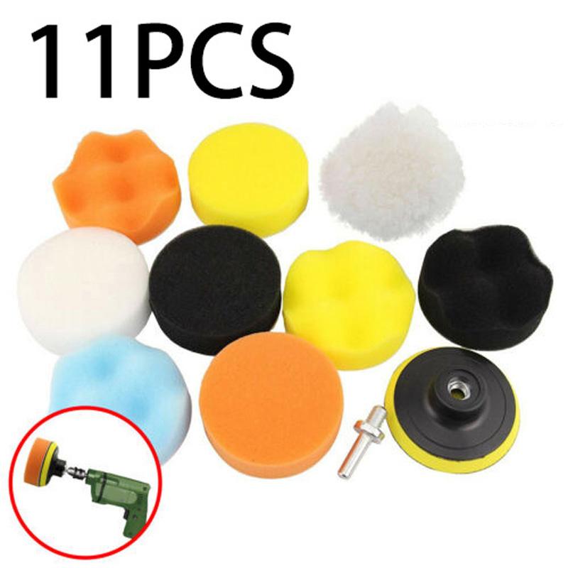 Car Buffing Pads Polishing Buffer For Drill Sponge Kit Set Waxing Foam Sealing