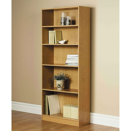 "Orion 72"" 5-Shelf Wide Bookcase, Oak"
