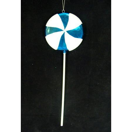 Large Candy Fantasy Blue Cotton Candy Lollipop Christmas Ornament Decoration 22