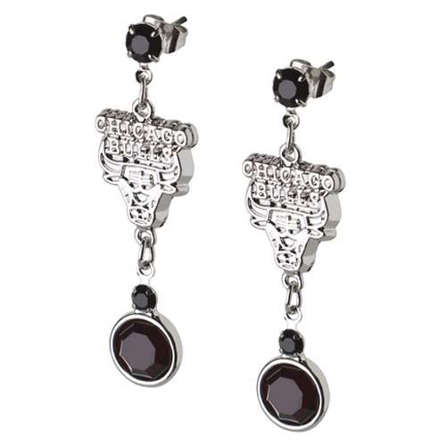 chicago bulls silver earrings silver bulls earrings