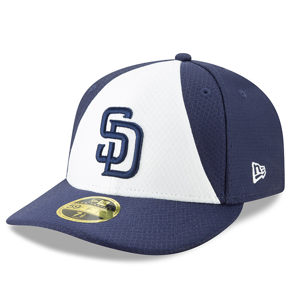 San Diego Padres New Era 2019 Batting Practice Low Profile 59FIFTY Fitted Hat - White/Blue