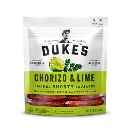 Duke's Chorizo & Lime Smoked Shorty Sausages, 5 - Dry Smoked Ham