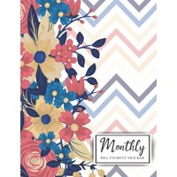 Monthly Bill/Expenses Payment Tracker Log Amount Column: Monthly Bill Tracker Organizer Notebook: Floral Design Cover, Monthly Bill Payment Checklist and Due Date Organizer Plan for Your Expenses, Sim