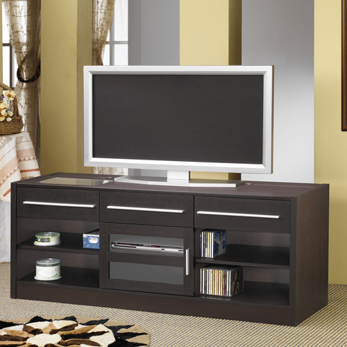"""Coaster Company """"Connect It"""" TV Console for up to 60"""" TV, Cappuccino"""