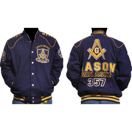 Big Boy Mason Divine S5 Mens Twill Jacket [Navy Blue - 2XL]