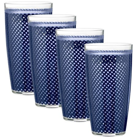 Kraftware Fishnet 22 oz. Doublewall Drinkware - Set of 4