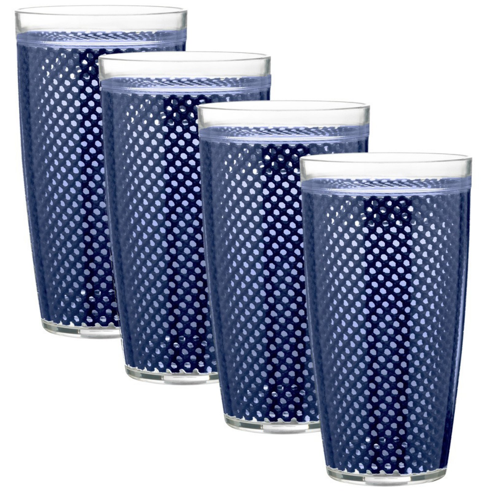 Kraftware Fishnet 24 oz. Doublewall Drinkware - Set of 4