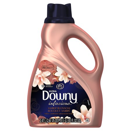 Ultra Concentrated Fabric (Downy Ultra Infusions Liquid Fabric Conditioner (Fabric Softener), Amber Blossom, 96 Loads 83 fl oz )