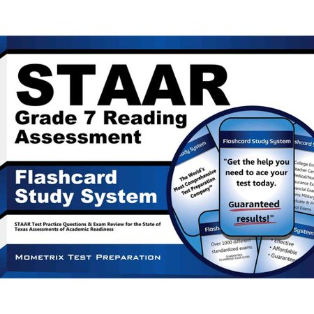 STAAR Grade 7 Reading Assessment Flashcard Study System: Staar Test  Practice Questions & Exam Review for the State of Texas Assessments of  Academic