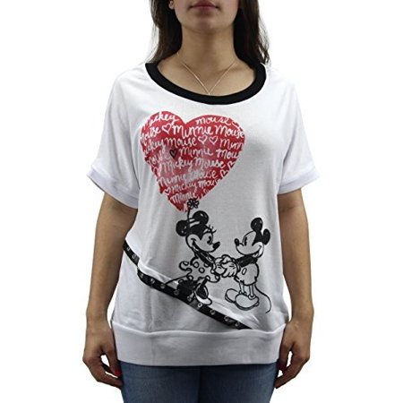 Disney Women's Boutique Mickey and Minnie Mouse Dolman Cut T-shirt