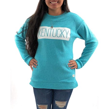 Bright Aqua Apparel - University of Kentucky Wildcats Womens Apparel Comfy Terry Sweatshirt Clothing Aqua