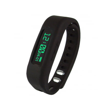 Supersonic 0 91 Fitness Wristband With Bluetooth Pedometer Calorie Counter And More Black