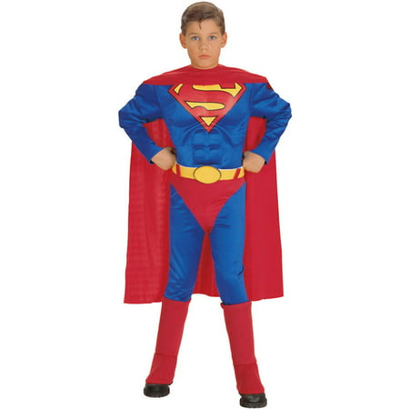 Best Halloween Party Washington Dc (Rubies Deluxe Muscle Chest Superman Boys Child)