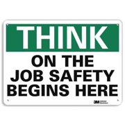 LYLE U7-1306-RA_14X10 Safety Sign, Reflective Alum, 10inHx14inW