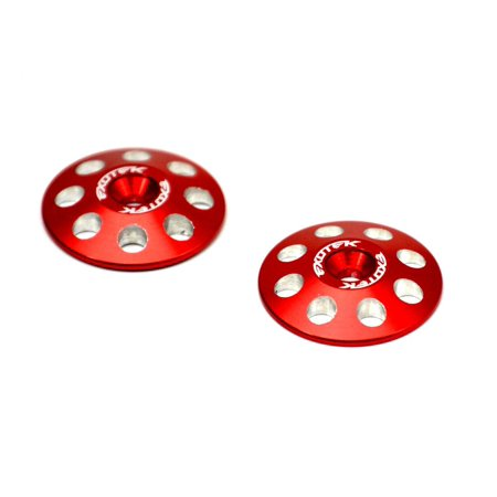 Hobby Rc Exotek Racing Exo1665Red 1/8 Red Xl Wing Buttons 22Mm (2) Upgrade Parts