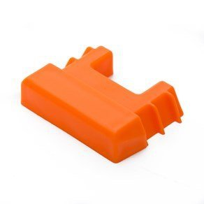 DC Cargo Mall Durable Orange Plastic End Protector Cover Cap for Vertical E Track Tie-Down Rails in Trailers, Vans, Trucks, and Warehouses