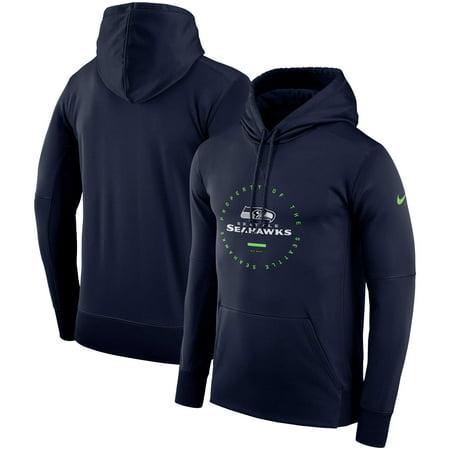 Seattle Seahawks Nike Sideline Property Of Wordmark Logo Performance  Pullover Hoodie - College Navy - Walmart.com 5219df064