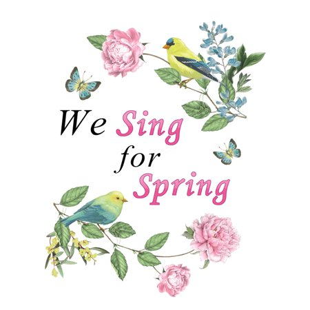 Spring Song Birds Garage Door Magnet - Removable and Reusable Outdoor Decorative Accents ()
