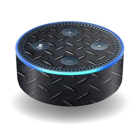 Skin Decal Wrap For Amazon Echo Dot  2Nd Generation  Stickers Black Diamond Pl