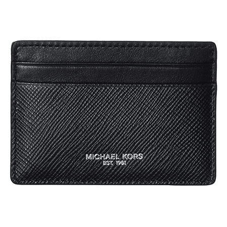 9ce091e73997 Michael Kors - Michael Kors Men s Logo Card Case Wallet Money Clip Black  39F6LHRD2L-001 - Walmart.com