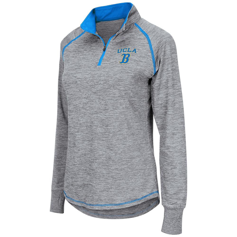 Womens NCAA UCLA Bruins Bikram Long Sleeve Quarter Zip Shirt
