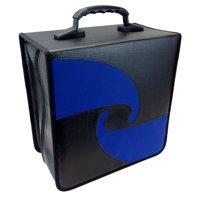 500 JUMBO Capacity Quality Portable DJ PU Vinyl Compact Disc CD DVD Blu-Ray Nylon Media Storage Wallet Folder Black With Assorted Trim ( 1 Item Only )