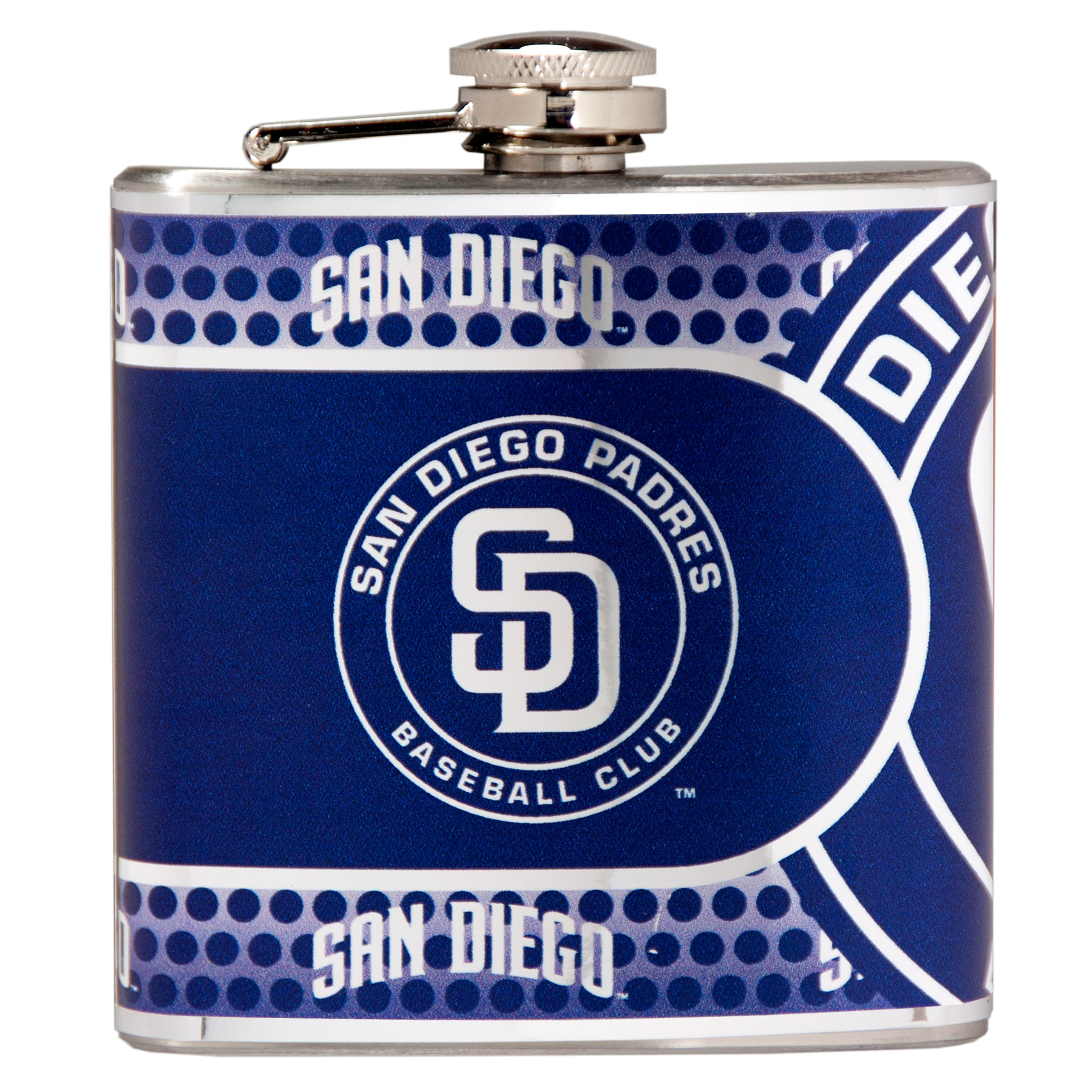 San Diego Padres 6oz. Stainless Steel Hip Flask - Silver - No Size