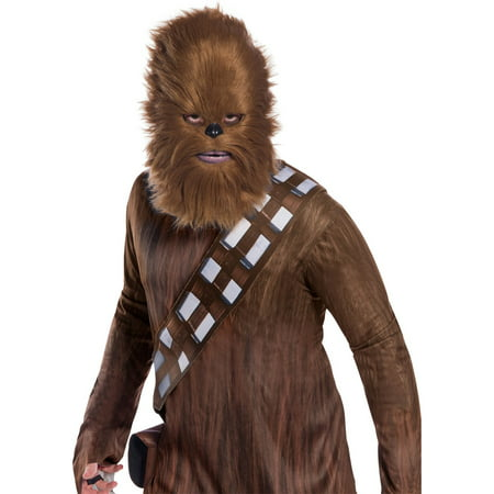 Star Wars Classic Adult Chewbacca Mask With Fur Halloween Costume Accessory