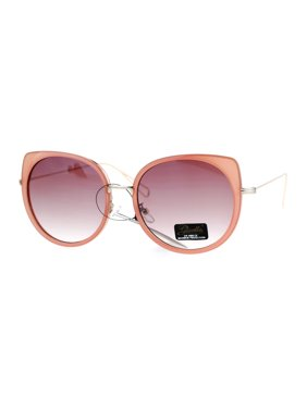 9fd51a1936 Product Image Giselle Womens Bat Shape Oversize Cat Eye Flat Lens Sunglasses  Tortoise