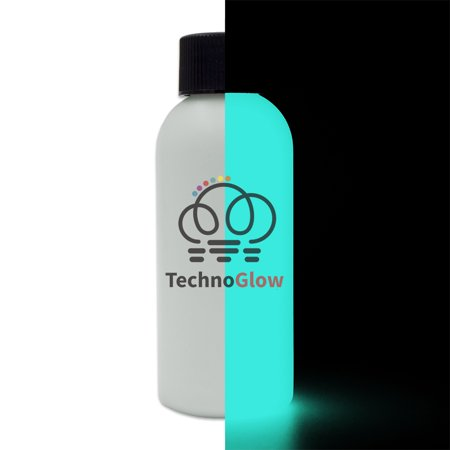 Glow in the Dark Paint, Invisible Aqua - 1 fl oz Techno Glow Paints for $<!---->