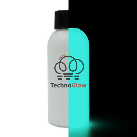 Glow in the Dark Paint, Invisible Aqua - 1 fl oz Techno Glow - Paint Glow In The Dark