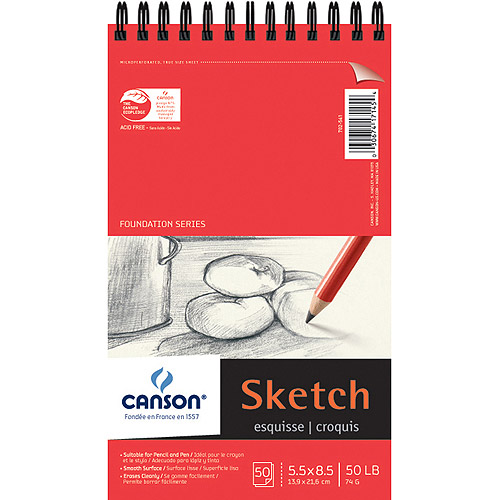 Pro Art Foundation Wire Bound Sketch Pad, 50 Sheets per Pad
