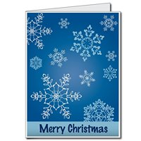 2'x3' Giant Christmas Card (Snowflakes), W/Envelope