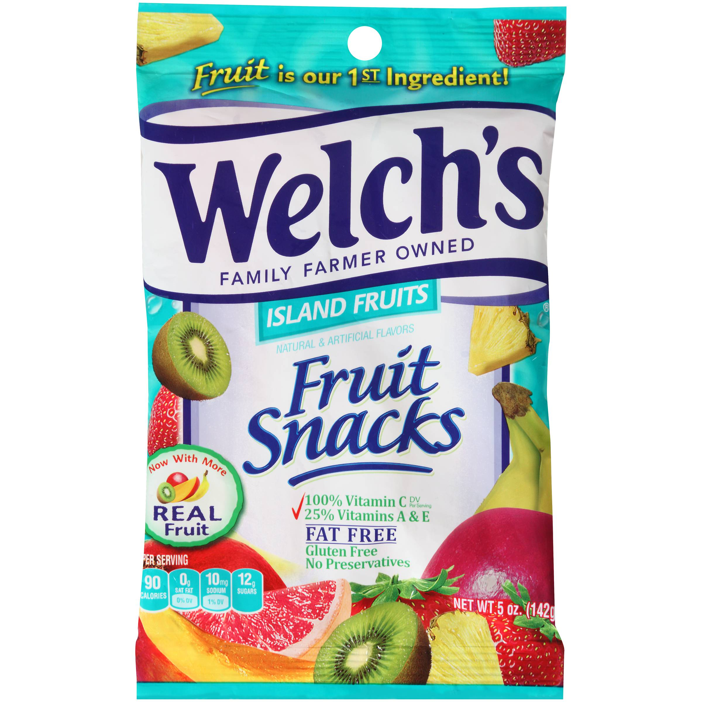 Welch's Fruit Snacks Island Fruit 5oz (PACK OF 12)