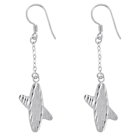 Orchid Jewelry Mfg Inc Plain Sterling Silver Long Hanging Earrings By Orchid Jewelry