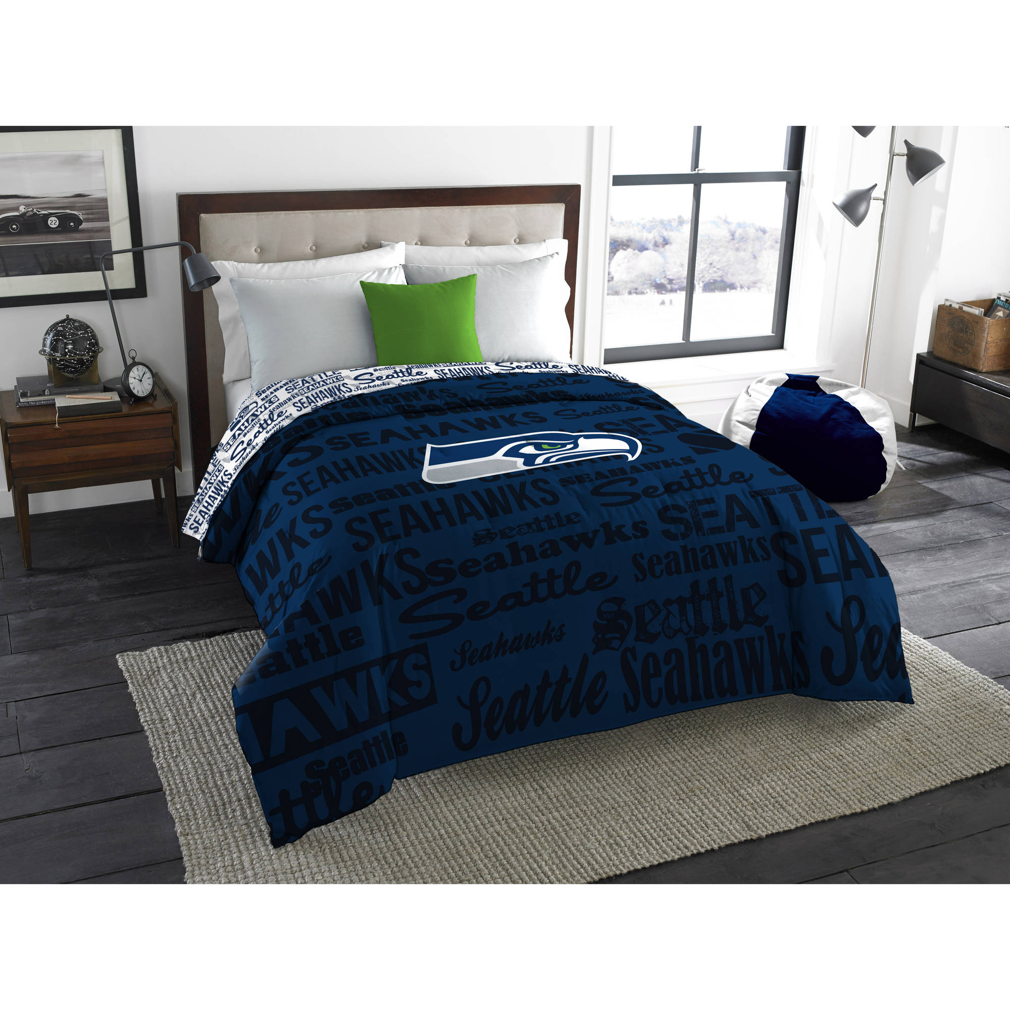 "NFL Seattle Seahawks ""Anthem"" Twin/Full Bedding Comforter"