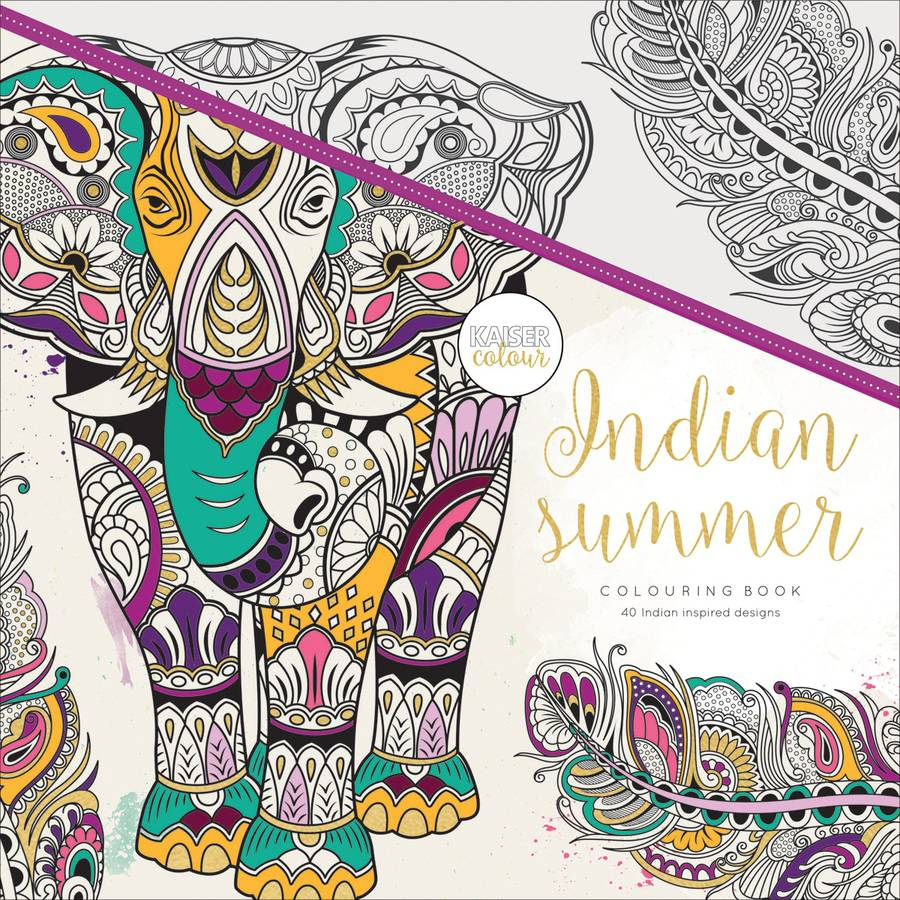 KaiserColour Perfect Bound Coloring Book, Indian Summer