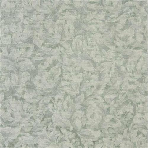 Designer Fabrics F803 54 inch Wide Green And Ivory, Pastel Floral Leaves Jacquard Woven Upholstery Fabric