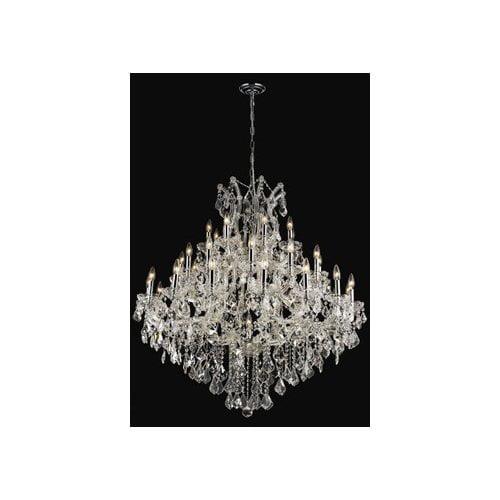Elegant Lighting 2800G44C-GT/RC Chandeliers Maria theresa