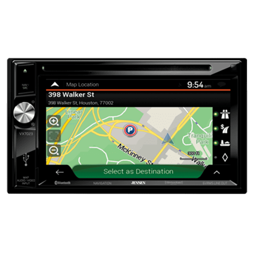 Jensen VX7023A V Receiver w  DVD | Built-in NAV | Built-in Bluetooth Technology | Sirius-XM Ready | Pandora | USB by Jensen