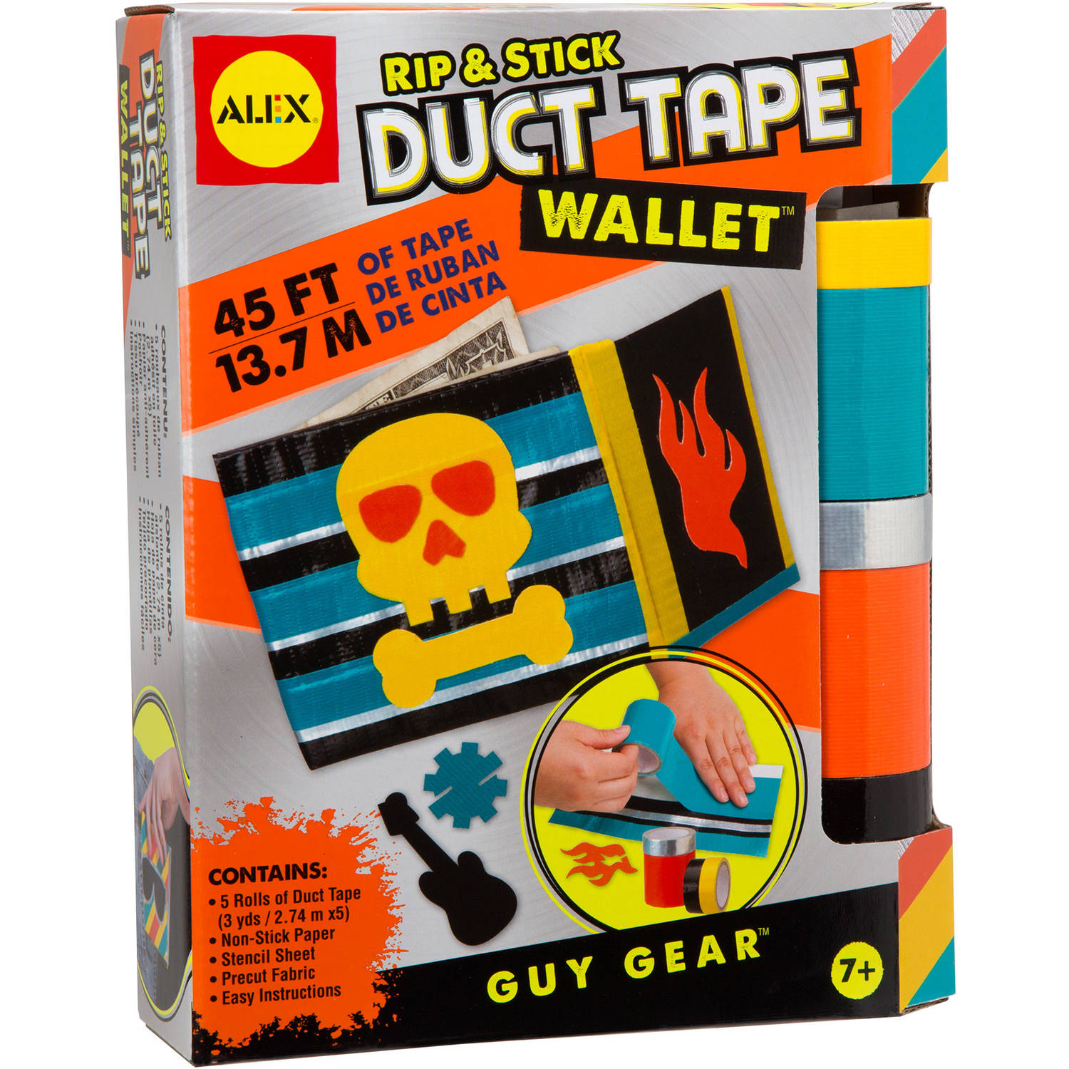 Duct tape crafts kits - Alex Toys Craft Guy Gear Rip And Stick Duct Tape Wallet Kit Walmart Com